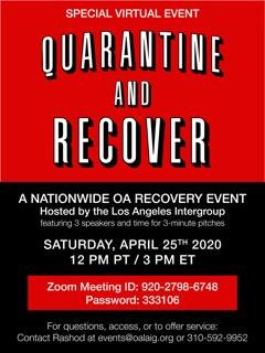 OA recovery event