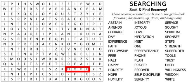 recovery-word-search