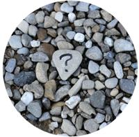 question mark rock by Ana Municio
